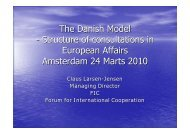 The Danish Model - Structure of consultations in European ... - MiND