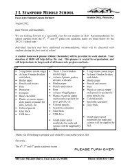 Letter from JLS teachers regarding school supplies - Jane Lathrop ...