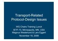 Transport-Related Protocol-Design Issues - Lars Eggert