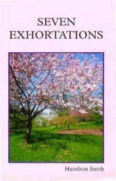 SEVEN EXHORTATIONS - Bible Truth Publishers