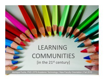LEARNING COMMUNITIES - MyWeb at WIT