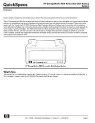 HP StorageWorks RDX Removable Disk Backup System