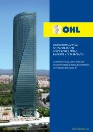 grupo internacional de construcción, concesiones, medio ... - Ohl