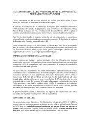 NOTA INFORMATIVA DA LEI Nº 12.715/2012, FRUTO DA ...