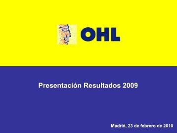 Presentación resultados 2009 - Ohl