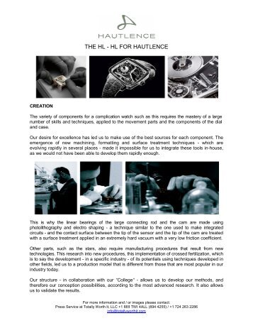 Hautlence HL - TWI.pdf - Watchuseek, World's Most Visited Watch ...