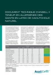 Téléchargez le White Paper II complet (pdf) - Ansell Healthcare ...