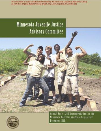 Minnesota Juvenile Justice Advisory Committee - Minnesota State ...