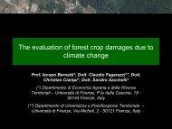 Le reti ecologiche e lo sviluppo del territorio rurale: lo scenario della ...