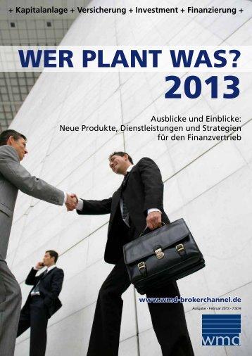 Wer plant was? 2013 - Das eMagazin
