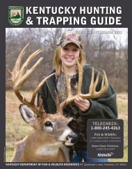 2010-11 Hunting & Trapping Guide - Kentucky Department of Fish ...