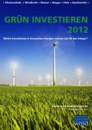 GRÜN INVESTIEREN 2012 - Das eMagazin
