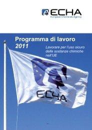 Programma di lavoro 2011 - ECHA