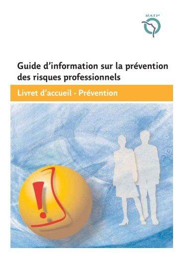 Guide d'information sur la prévention des risques professionnels