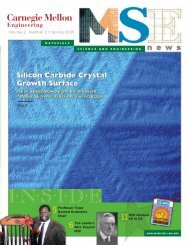 Spring 2005 MSE Newsletter - Materials Science and Engineering ...