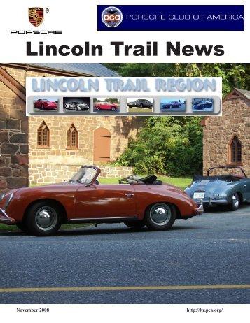 November 2008 - Lincoln Trail - Porsche Club of America