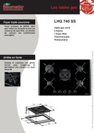 Les tables gaz LHG 740 SS