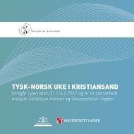 Tysk-norsk uke.pdf - Universitetet i Agder