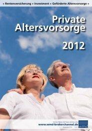 Private Altersvorsorge 2012 - Das eMagazin!