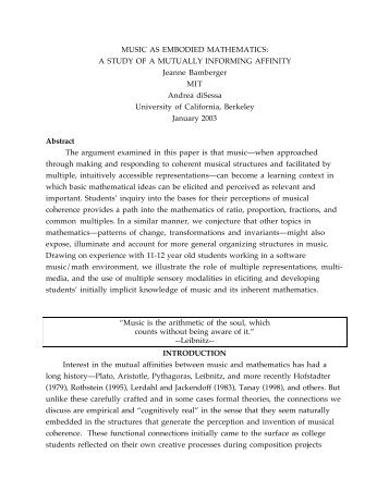 Embodied strategies in mathematical cognition - LiB