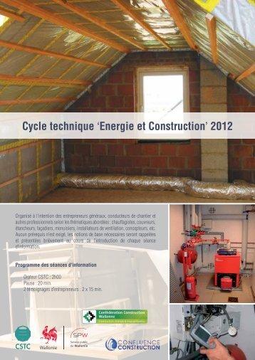 Cycle technique 'Energie et Construction' 2012 - CSTC