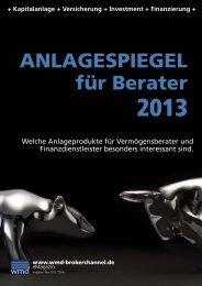 Anlagespiegel für Berater 2013 - Das eMagazin!