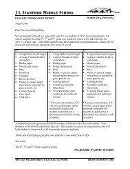 Recommended School Supplies (pdf) - Jane Lathrop Stanford ...