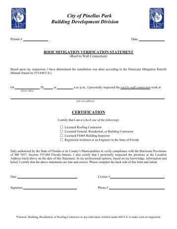 Uniform Mitigation Verification Inspection Form