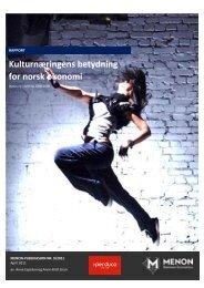 Kulturnæringens betydning for norsk økonomi - Distriktssenteret