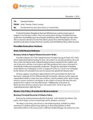 Possible Romney Executive Action on Social Policy - Third Way
