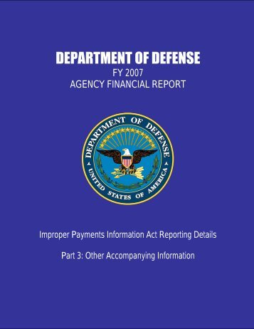 DEPARTMENT OF DEFENSE - Comptroller