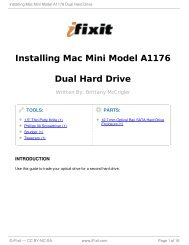 Installing Mac Mini Model A1176 Dual Hard Drive