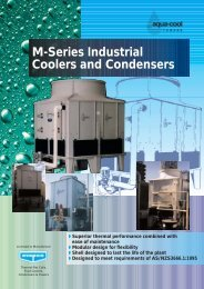 M-Series Industrial Coolers And Condensers - Tasman Cooling ...