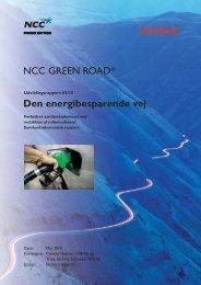 Den energibesparende vej Samfundsøkonomisk rapport 9-9-10 - NCC
