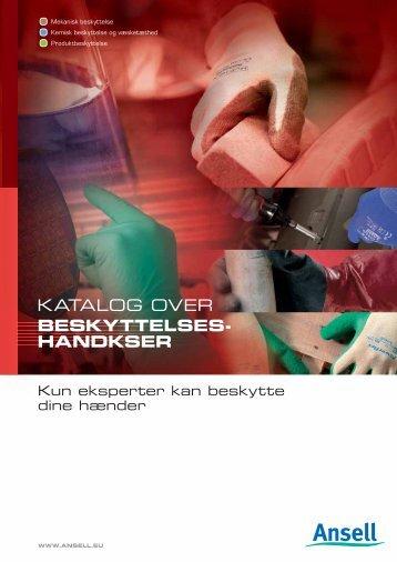 KATALOG OVER BESKYTTELSES- HANDKSER - Ansell