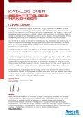 KATALOG OVER BESKYTTELSES- HANDKSER - Ansell - Page 2