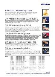 Metalinas EUROCEL Afdækningstape 3M Afdækningstape 2328 ...