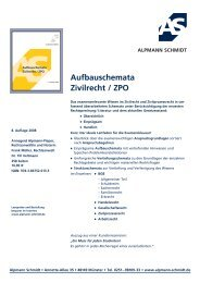Aufbauschemata Zivilrecht / ZPO - Alpmann Schmidt