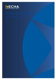 REACH-ben előírt értékelés - ECHA - Europa