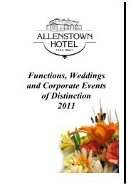 Functions, Weddings and Corporate Events of Distinction 2011