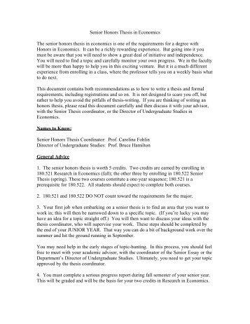 thesis suggestions economics