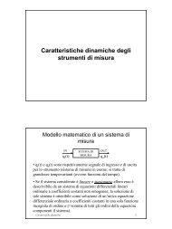 Caratteristiche dinamiche degli strumenti di misura - ArchiMeDes