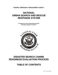 national urban search and rescue response system disaster search ...