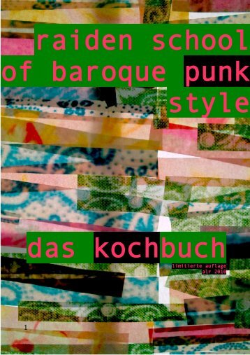 raiden school of baroque punk style das kochbuch