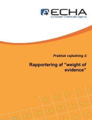 """Rapportering af """"weight of evidence"""" - ECHA - Europa"""