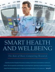 smart health and wellbeing - Computing Research Association