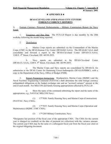 Appendix B - Office of the Under Secretary of Defense (Comptroller)