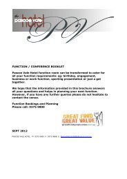 FUNCTION / CONFERENCE BOOKLET Pascoe Vale Hotel function ...
