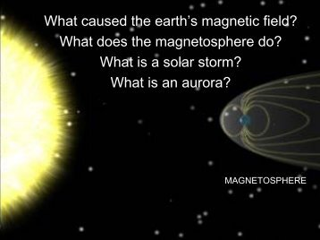 What caused the earth's magnetic field? What does the ...