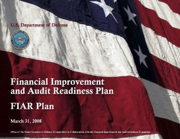 March 2008 FIAR Plan - Office of the Under Secretary of Defense ...